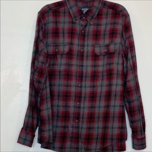 🌵 FADED GLORY Button Down Flannel LS Shirt